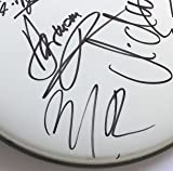 Scorpions signed drumhead group autographed klaus