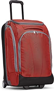 eBags Mother Lode 25 Inches Checked Rolling Duffel (Sinful Red)