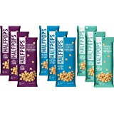 Halfpops Gluten Free Non-GMO Curiously Crunchy Popcorn Minis 3 Flavor 9 Bag Variety Bundle, (3) Each: Angry Kettle Corn, Black Truffle Sea Salt, and Butter Sea Salt, 1.4 Ounces