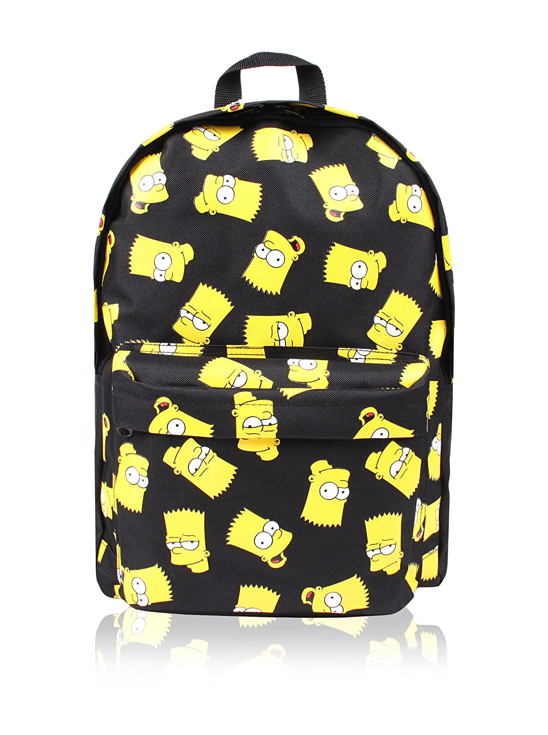 Back TO School Mochila Bart Face Negro 41 cm