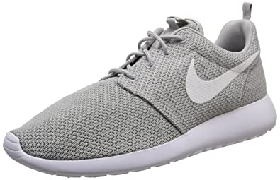 meet 518b4 0dfe8 Image Unavailable. Image not available for. Color  Nike Roshe Run Mens  Running Shoes sz 9.5 Wolf Grey White