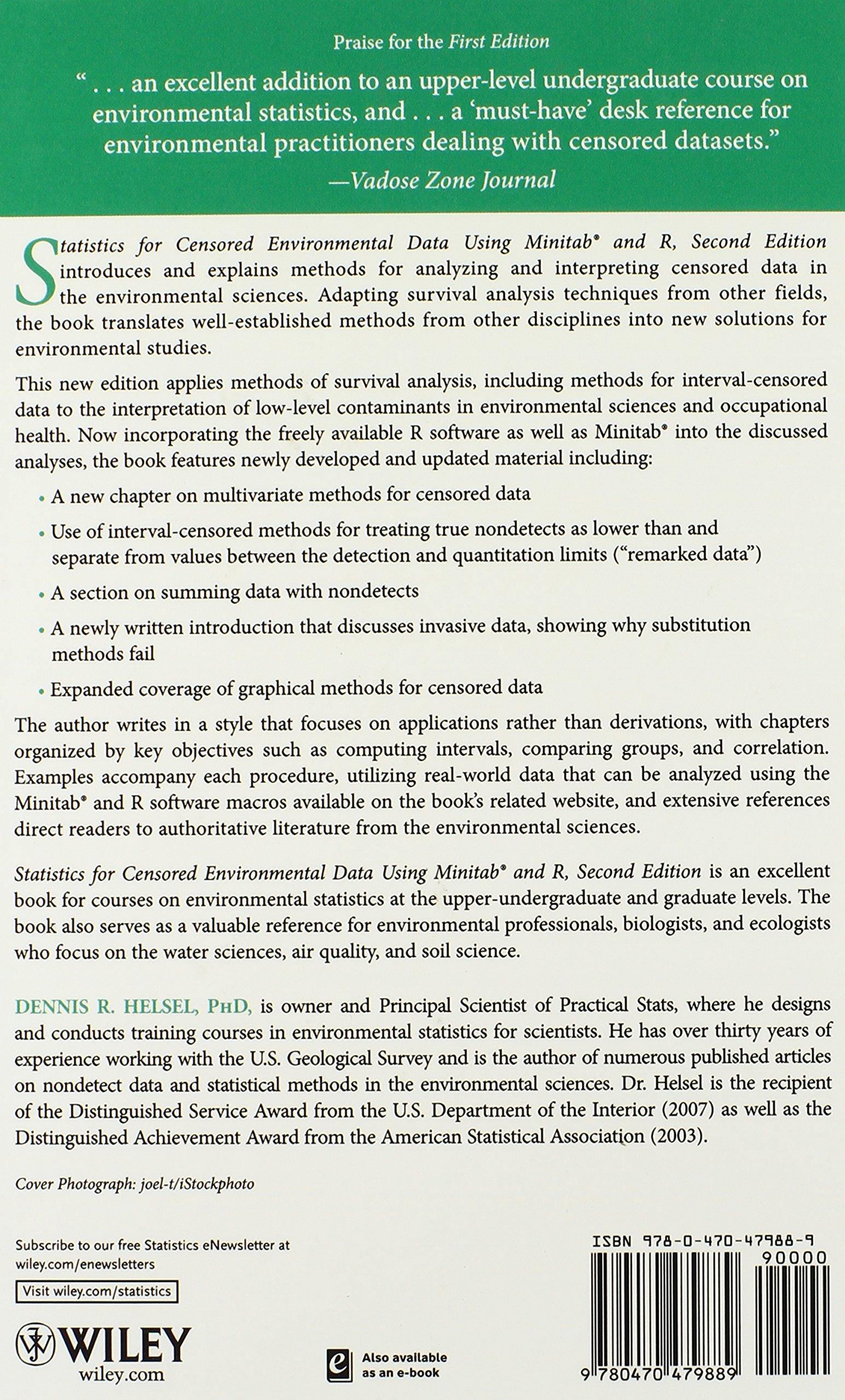Statistics for Censored Environmental Data Using Minitab and R: Dennis R.  Helsel: 9780470479889: Books - Amazon.ca