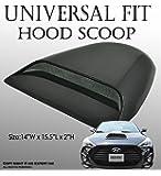 JDM Style Universal Car Black Hood Scoop AERO DYNAMIC Speed racer waterproof FLOW with 3M tape No Drill