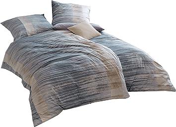Estella Bettwäsche Marlon Interlock Jersey Grau Größe 135x200 Cm