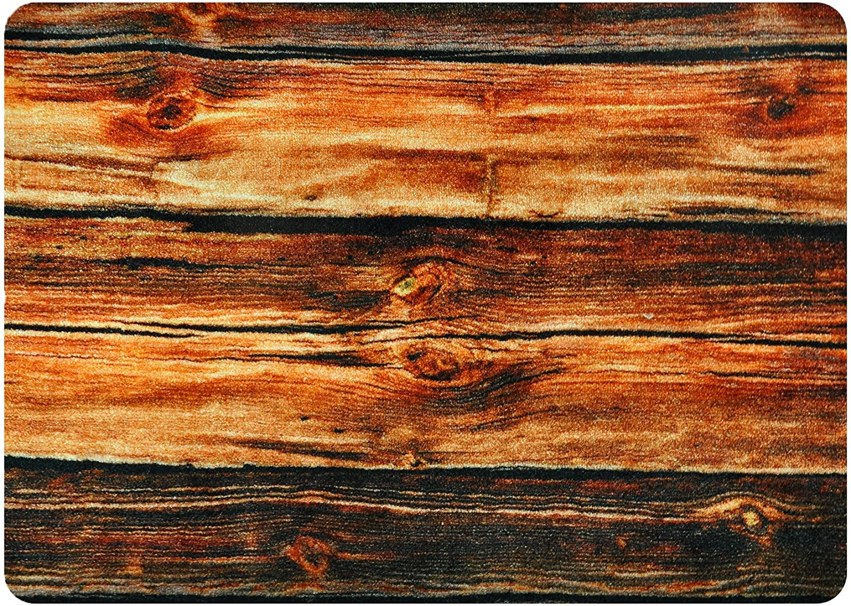 Deco-mat Fußmatte Holz Willkommen, Fussmatte Innen, Rutschfest, Rutschfest, Rutschfest, Waschbar – Schmutzfangmatte - Fussabtreter - Türmatte 60x90cm 99b77c
