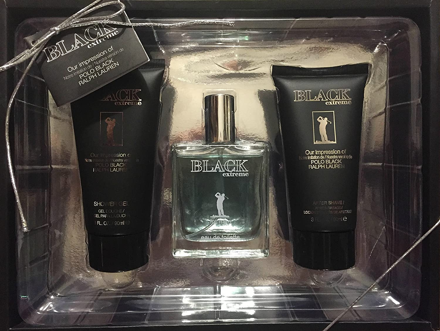 Black Extreme Mens 3 pc. Gift set - impression of Polo black by ...