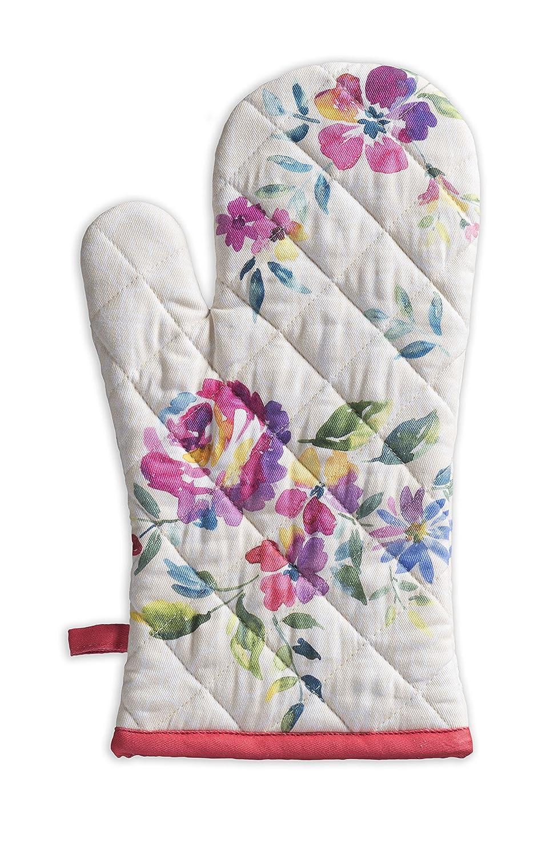 Maison d' Hermine Rose Garden 100% Cotton Oven Mitt 7.5 Inch by 13 Inch
