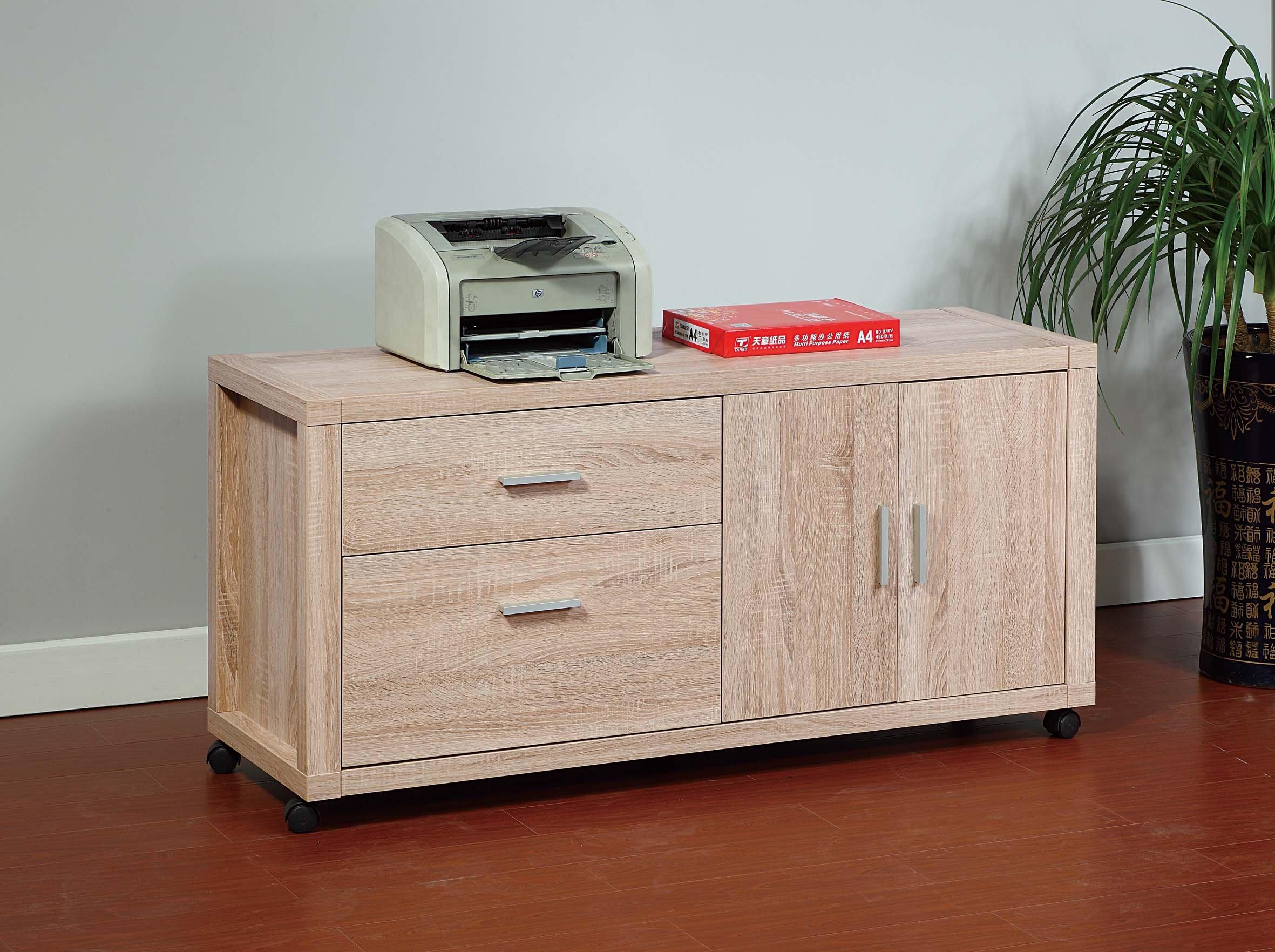 Smart Home 14940 Attwell File Credenza Mobile File Cabinet Organizer (Weathered White)