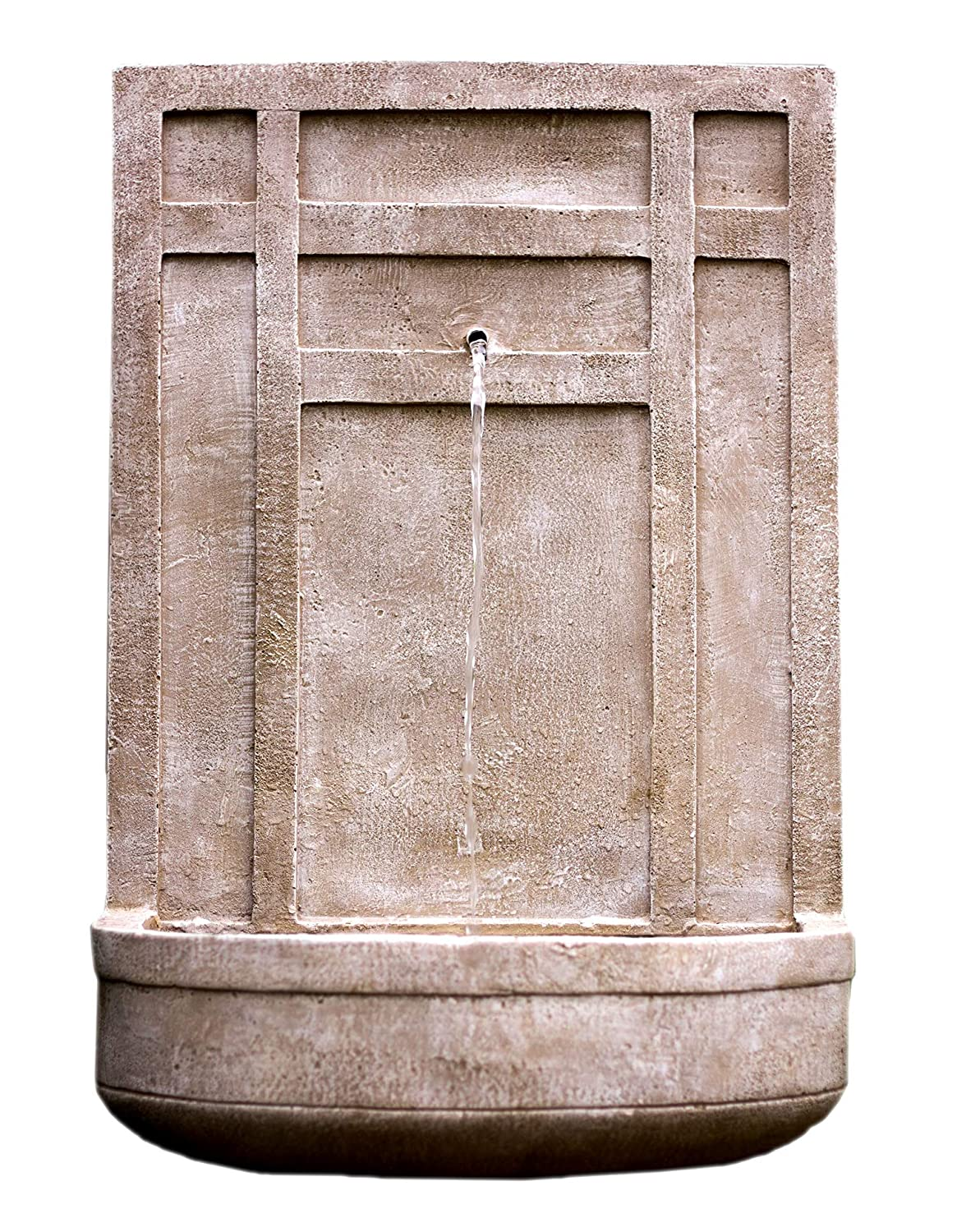The Sicily - Outdoor Wall Fountain in Parchment Beige - Water Feature for Outdoor Living Space and Garden Enhancement Harmony Fountains HF-W007-P