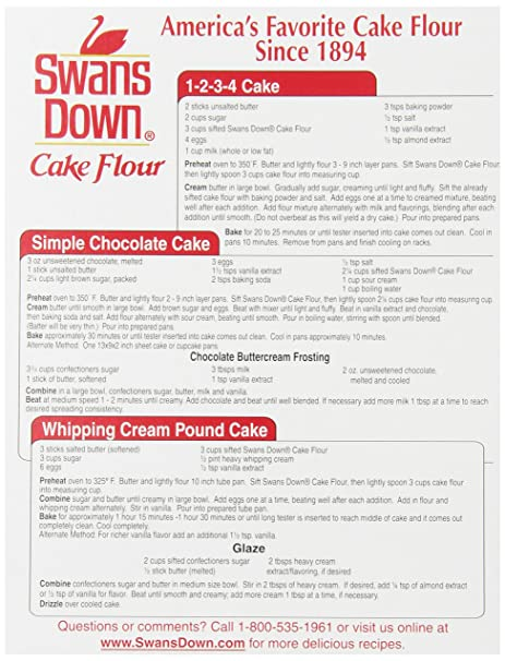 Amazon.com : Swans Down Regular Cake Flour, 32-Ounce Boxes (Pack ...