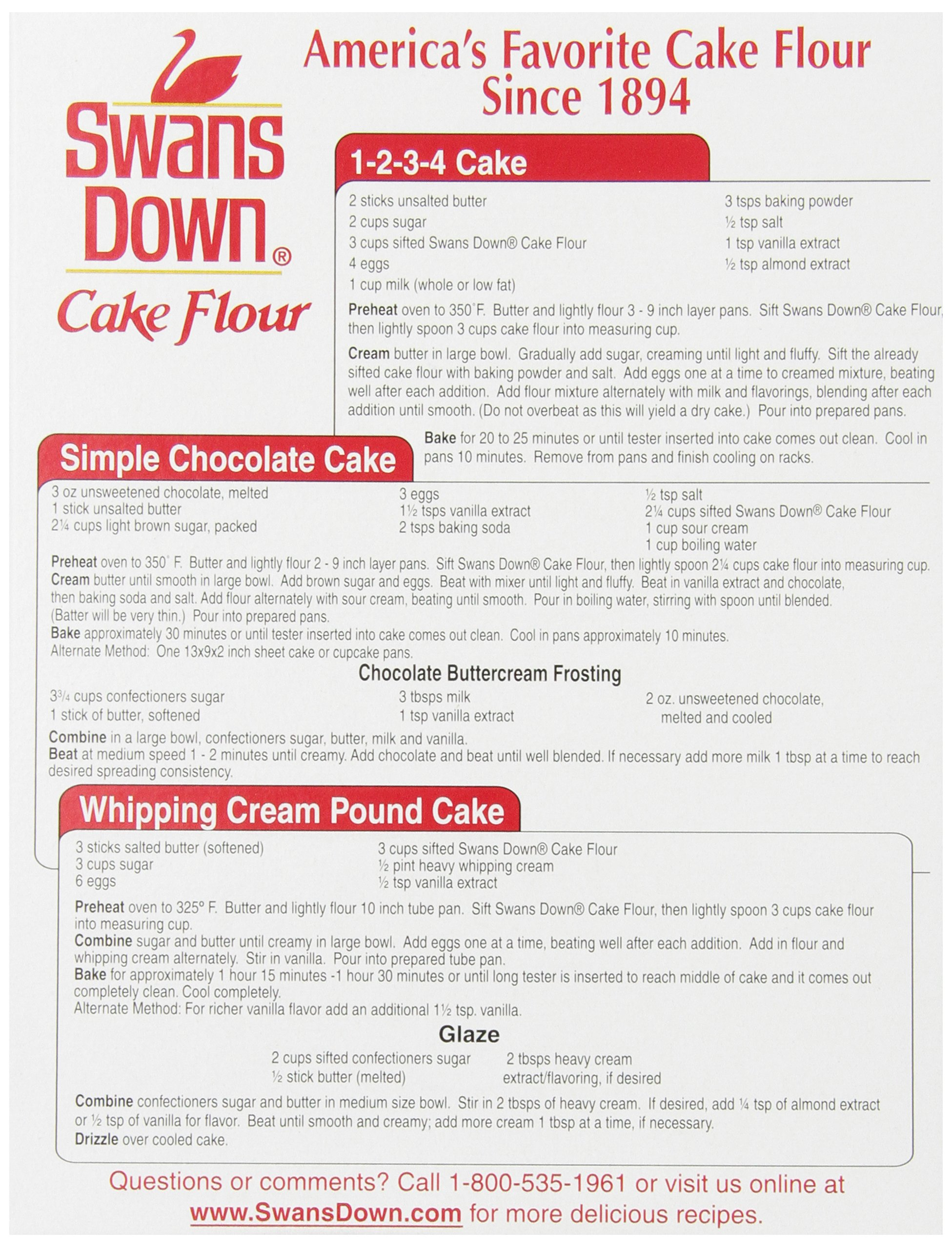Swans Down  Regular Cake Flour, 32-Ounce Boxes (Pack of 8) by Reily Foods (Image #5)