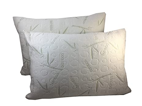 Amazon 2 Pack Miracle Bamboo Pillows Memory Foam Pillow Soft