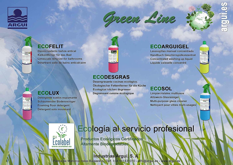 ECOARGUIGEL 2 Litros. LAVAVAJILLAS MANUAL CONCENTRADO PROFESIONAL. Limpieza ecologica. ECOLABEL: Amazon.es: Alimentación y bebidas