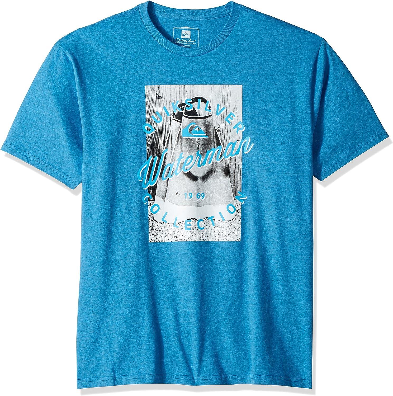 Quiksilver Hombre AQMZT03278 Manga Corta Camisa de Botones - Azul - Small: Amazon.es: Ropa y accesorios