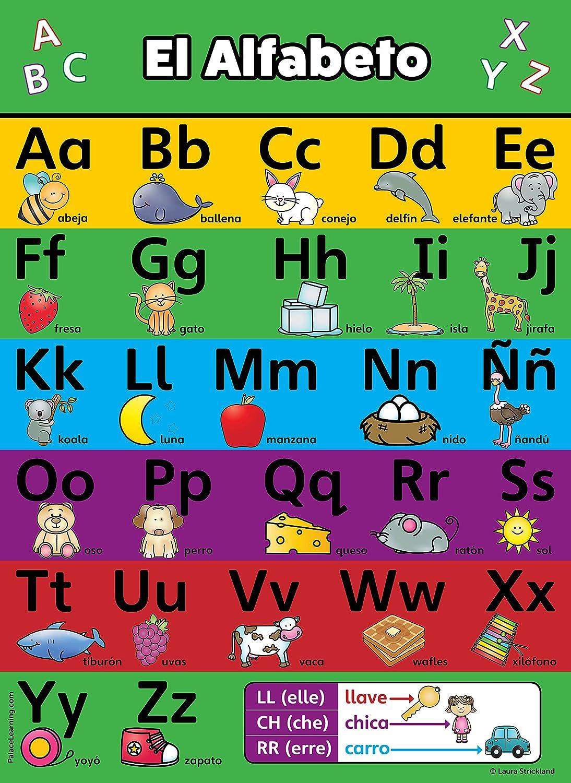 Amazon.com : ABC Alphabet Spanish Poster Chart - Laminated - Español  Alfabeto - Abecedario (18 x 24, Laminated) : Office Products