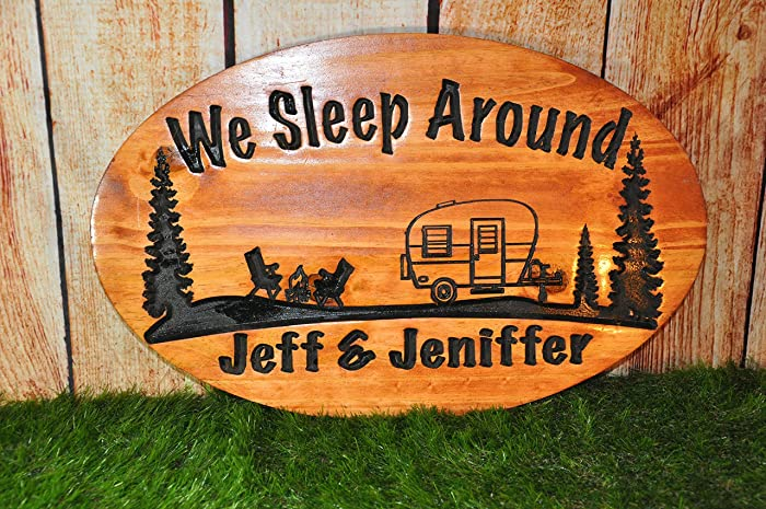 Amazoncom Camper Sign Engraved Camper Sign Wooden Camper Sign