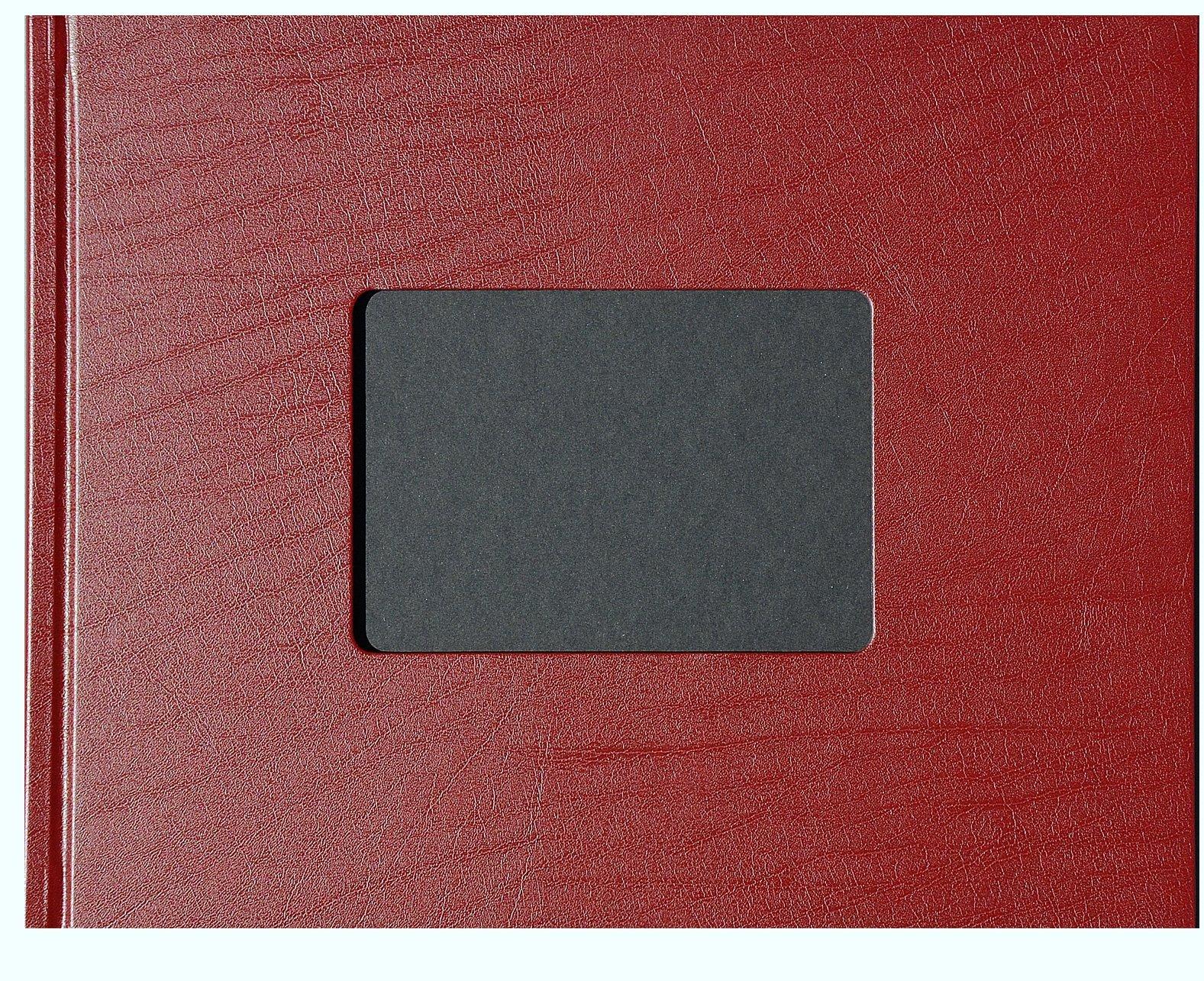 """Unibind 259FD8BA7DV 7mm Bordeaux Leatherette 8.5"""" x 11"""" Photobook - 10 Pack"""