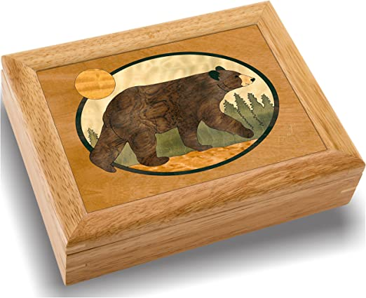 Handmade in USA MarqART Wood Art Dog Box MarqArt Wood Designs Unique #2146 Happy Dog 6x8x2 Unmatched Quality Trinket or Wood Jewelry Box Original Work of Wood Art No Two are The Same A Happy Dog Gift Ring