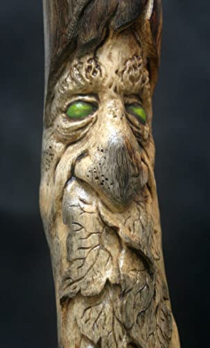 Woodcarving Green Man Woodspirit Tree Face Spirit Of The Woods Odd Weird  Pagan Wiccan Sculpture Cabin