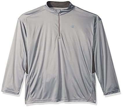 797f3b6e Amazon.com: Champion Men's Tall 1/4 Zip Pullover with Lc c: Clothing