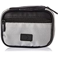 Fashion Smart Men's 7-Day Compartment Pill Box Zip Case with Outer Pocket, Green & Grey