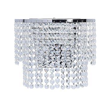 De Chambre Intérieure Design Métal Chrome Pampilles Murale Cascades 351028402 Brillant Cristal Avec Light Salon En Pour Applique Baroque Mw BxedCo