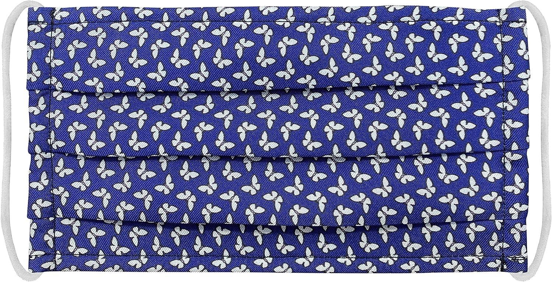 Brucle - Máscara filtrante de seda para uso colectivo Blu Farfalle Talla única
