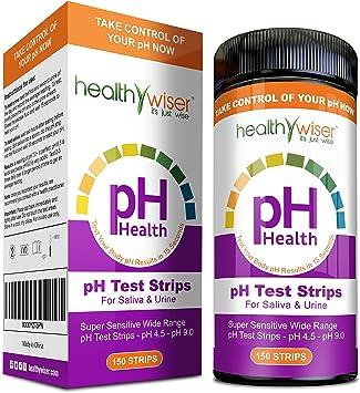Tiras de prueba de pH Healthywiser, resultados precisos en 15 ...