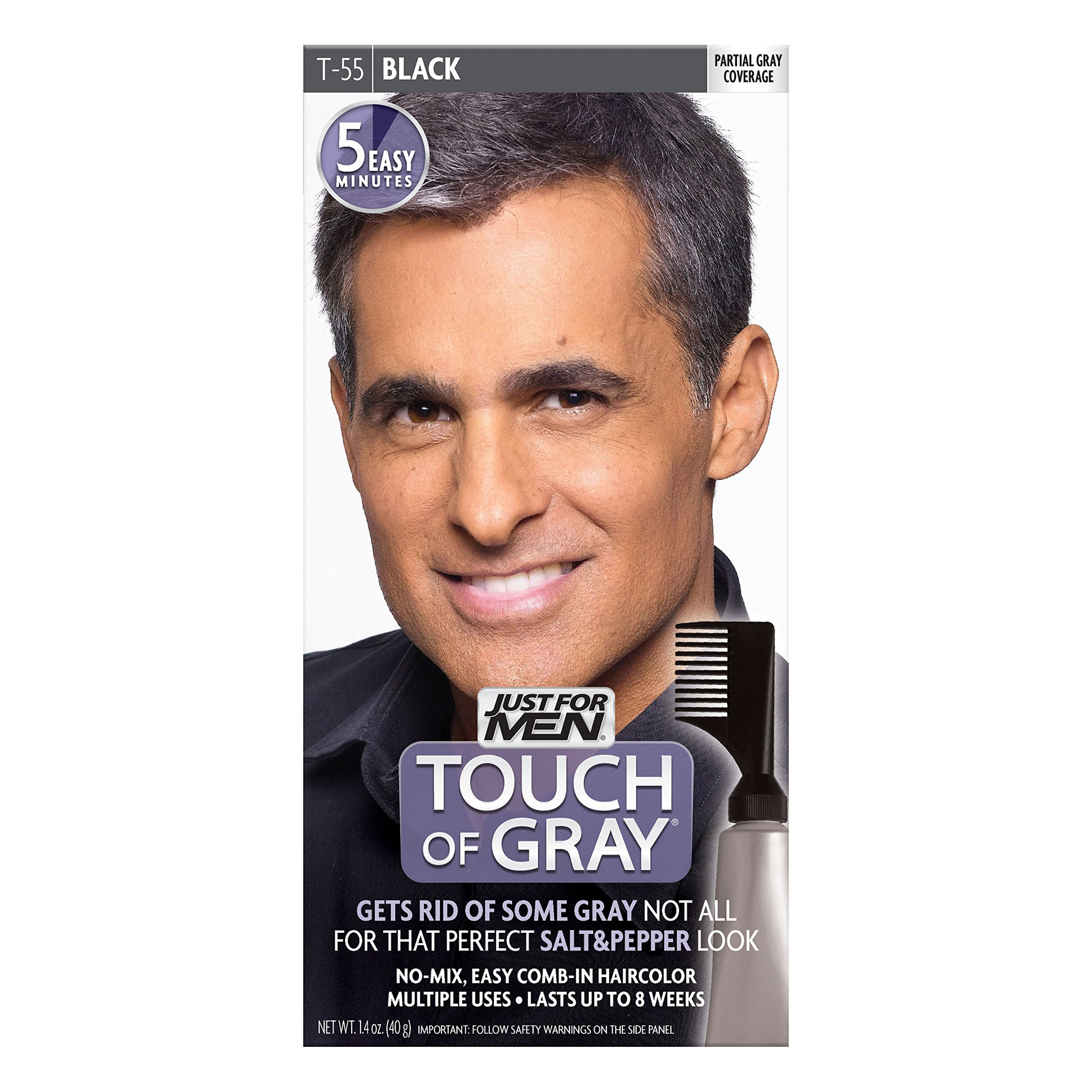 Amazon.com : Just For Men Touch Of Gray, Black, 1 Application (Pack ...