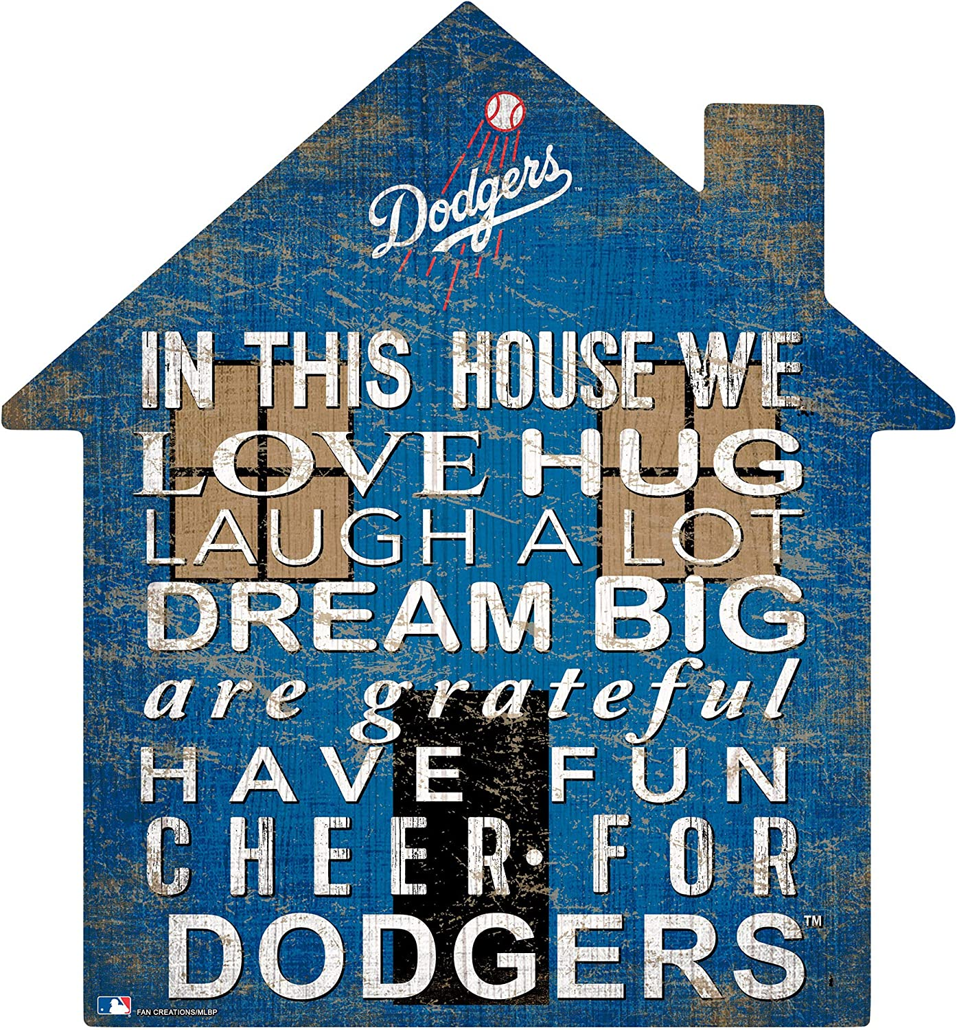Fan Creations MLB Los Angeles Dodgers Unisex Los Angeles Dodgers House Sign, Team Color, 12 inch