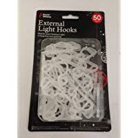 50 x Gutter Hanging Hooks / Clips for Christmas Xmas String Lights Outdoor