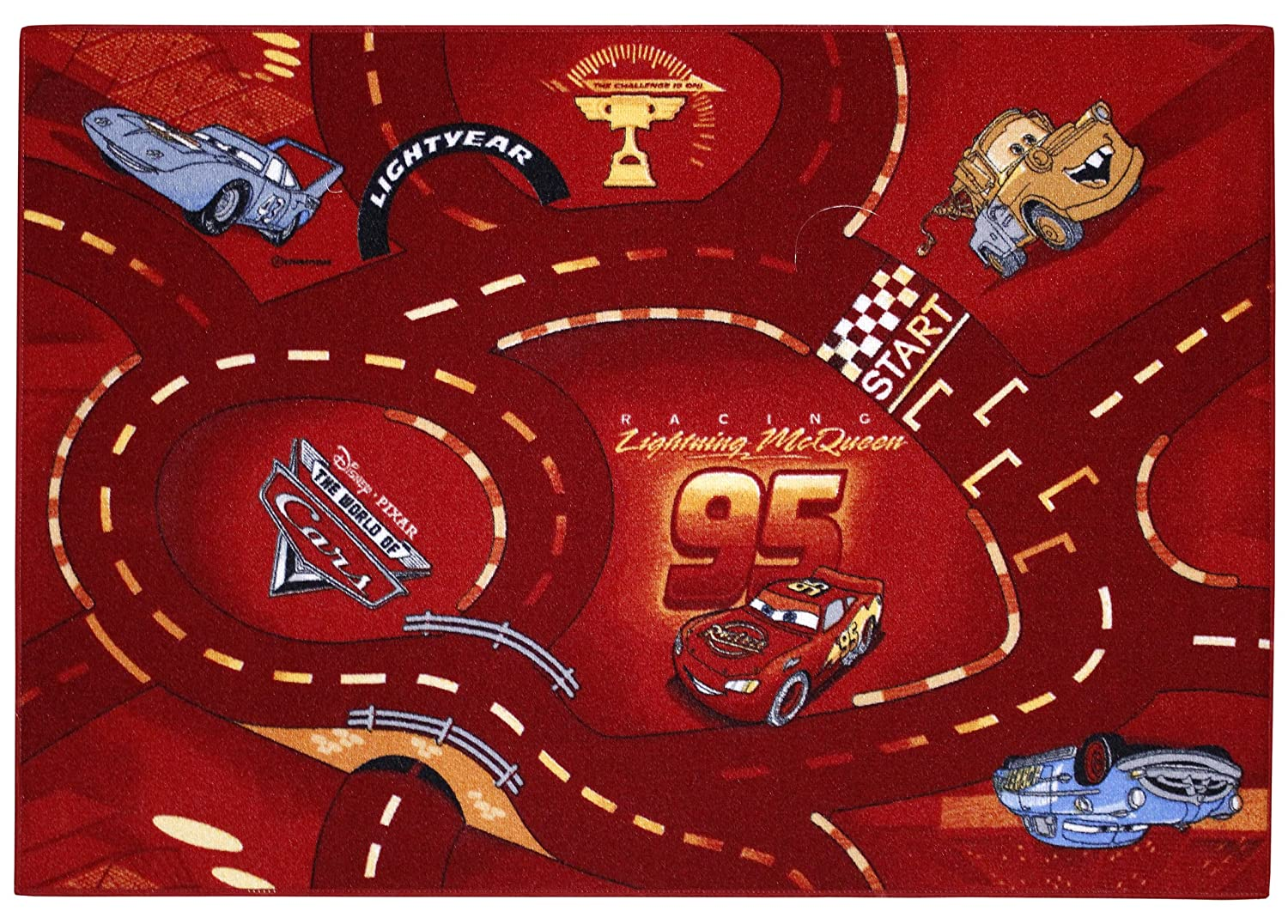 Associated Weavers C77 Disney Cars The World of Cars Mat 95 x 133 cm