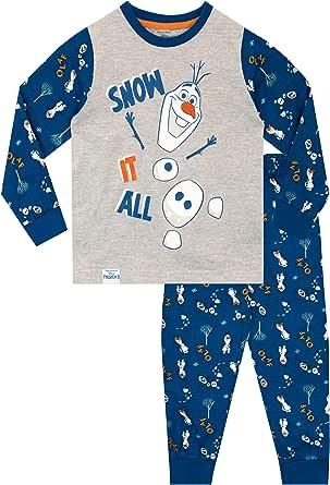 Frozen Pijamas de Manga Larga para niños El Reino del Hielo Frozen