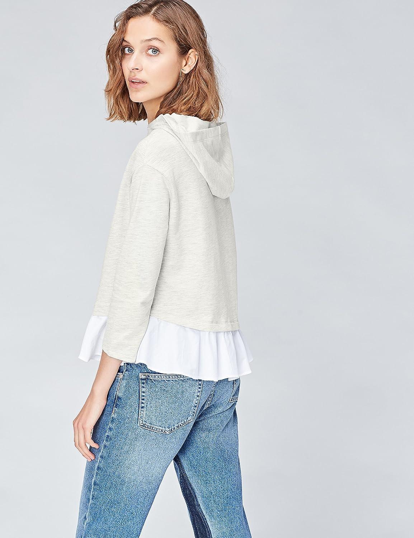FIND Womens Ruffled Trim Hooded Sweatshirt