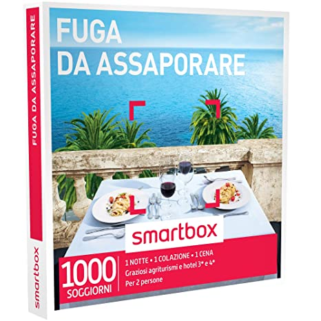 Smartbox Cofanetto Regalo - FUGA DA ASSAPORARE - 1000 soggiorni con ...