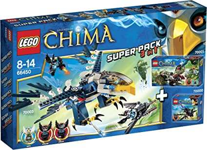 LEGO Chima - Super Pack Especial 3 en 1 - 66450: Amazon.es ...