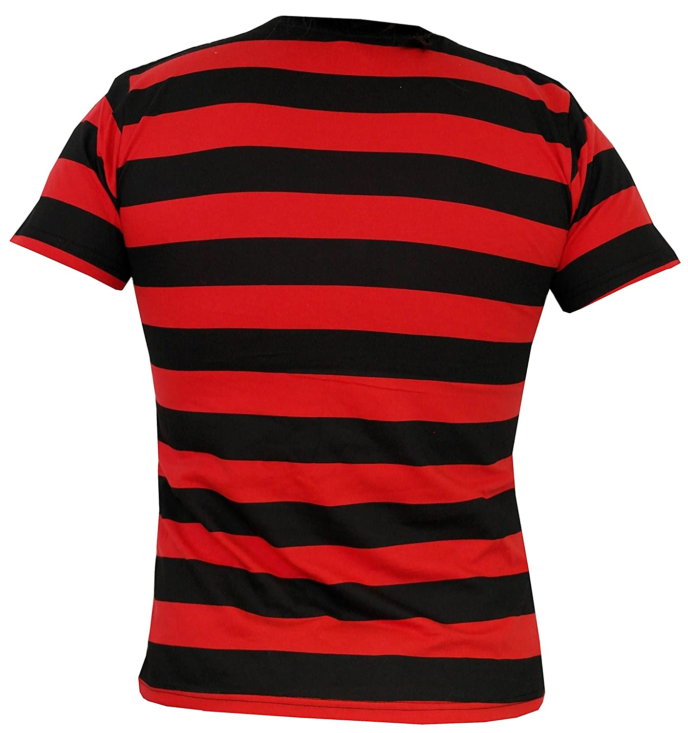 Black t shirt amazon - Rock Star Academy Black And Red Striped T Shirt