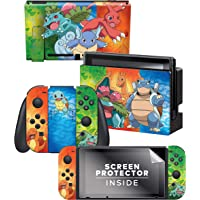 Controller Gear Nintendo Switch Skin & Screen Protector Set - Pokemon - Kanto Evolutions Set 1 - Nintendo Switch