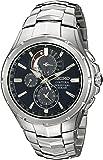 Seiko Men's SSC375 Coutura Solar Perpetual Chrono Analog Display Japanese Quartz Silver Watch