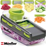 Mueller Austria Premium Quality Zester Mandoline-Pro Multi Blade Adjustable Cheese/Vegetable Slicer, Cutter, Shredder with Built-In Blade Storage and Container