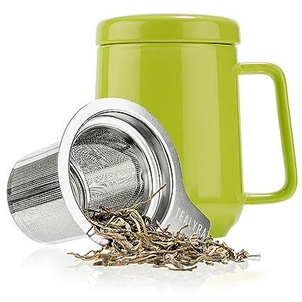 d2aca20028d Amazon.com | Tealyra - Peak Ceramic Lime Tea Cup Infuser - 19-ounce ...