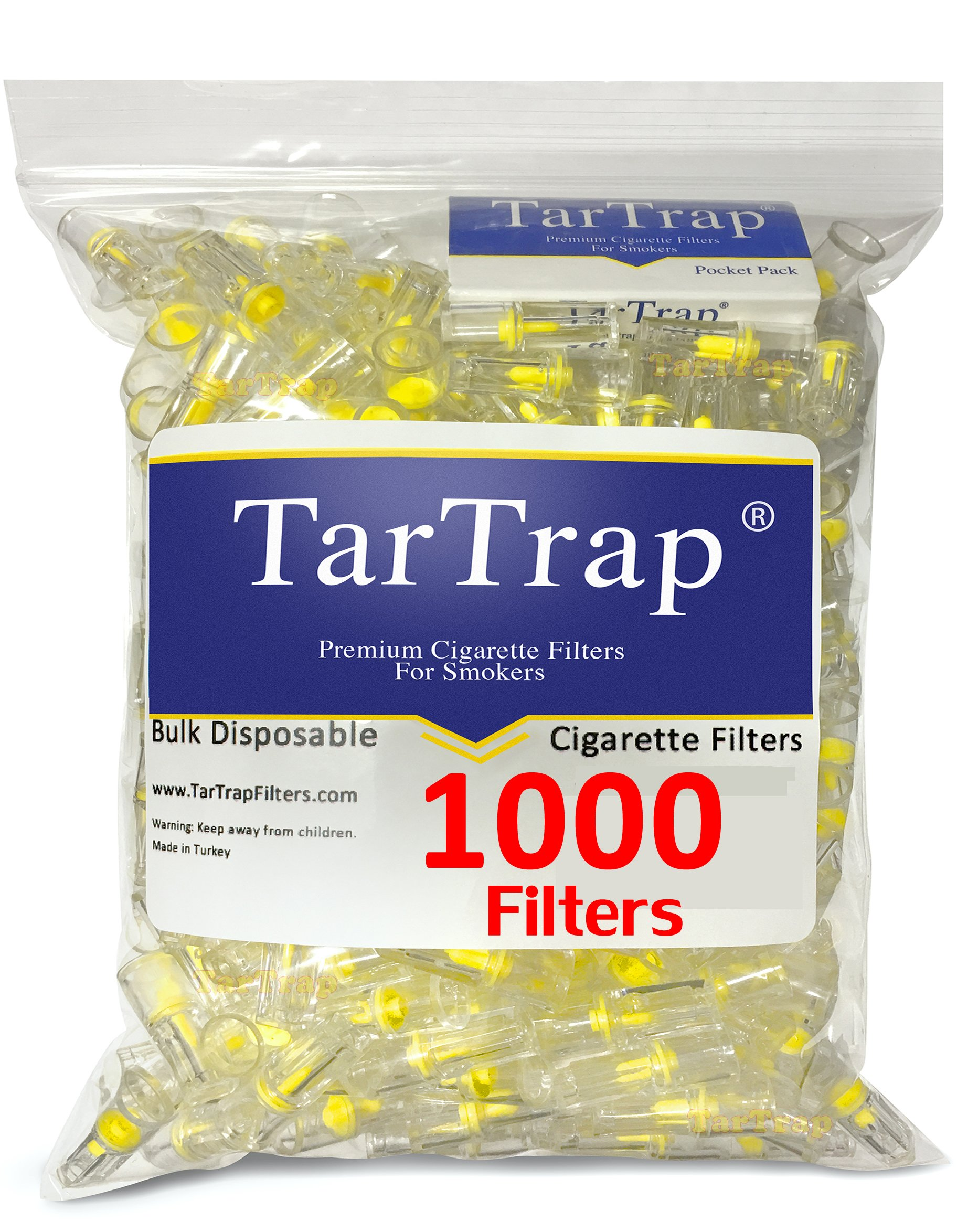 TarTrap Disposable Cigarette Filters - Bulk Pack (1000 Per Pack)