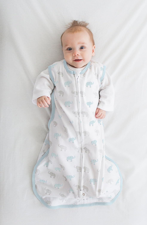 Peque/ño Saquito de Dormir de Algod/ón con Cremallera de 2 V/ías Amazing Baby by Swaddledesigns Peque/ños Dinos Azul Pastel 0-6 Meses
