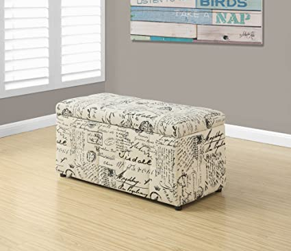 Surprising Amazon Com 38 Vintage French Fabric Storage Ottoman Short Links Chair Design For Home Short Linksinfo