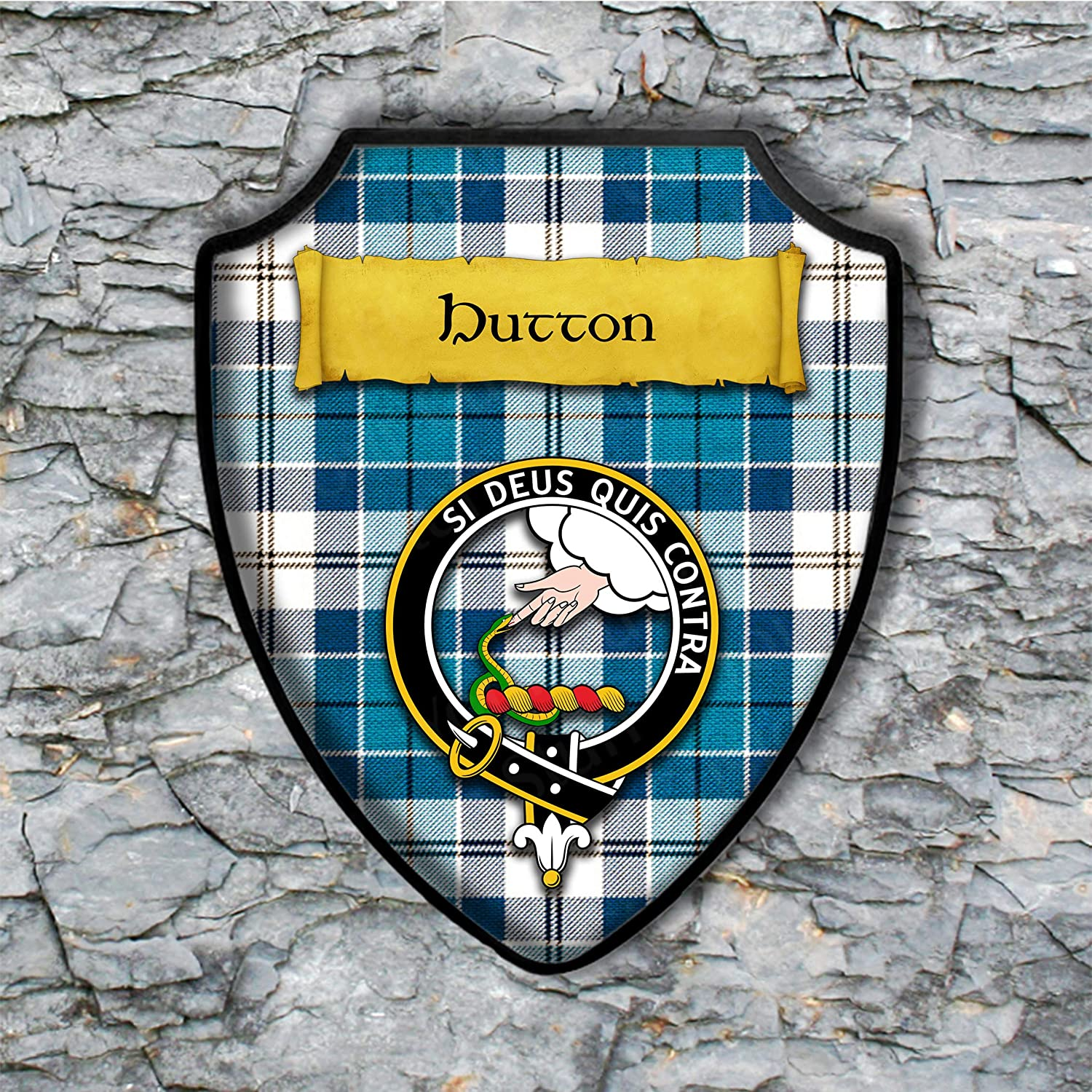 BP0385 WELCOME HOME OF BURNS Family Name Shield Chic Sign Home Decor Gift