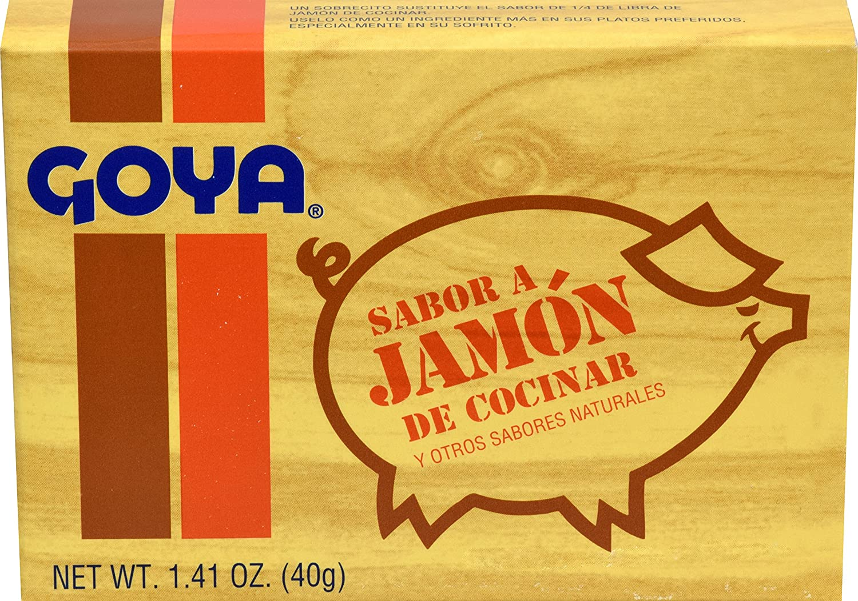 Amazon.com : Goya Ham Flavored Concentrated Seasoning 1.41oz   Sabor a  Jamon (Pack of 01) : Sea Salt : Grocery & Gourmet Food