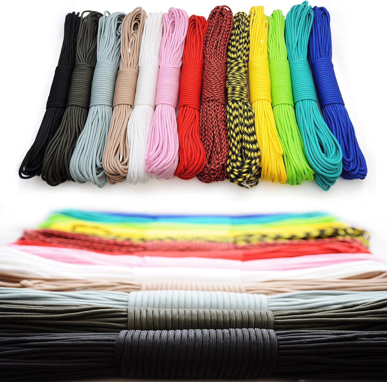 Paracord 550 cord 31m noir pour bracelet ou laisse pour chien couleur: gris