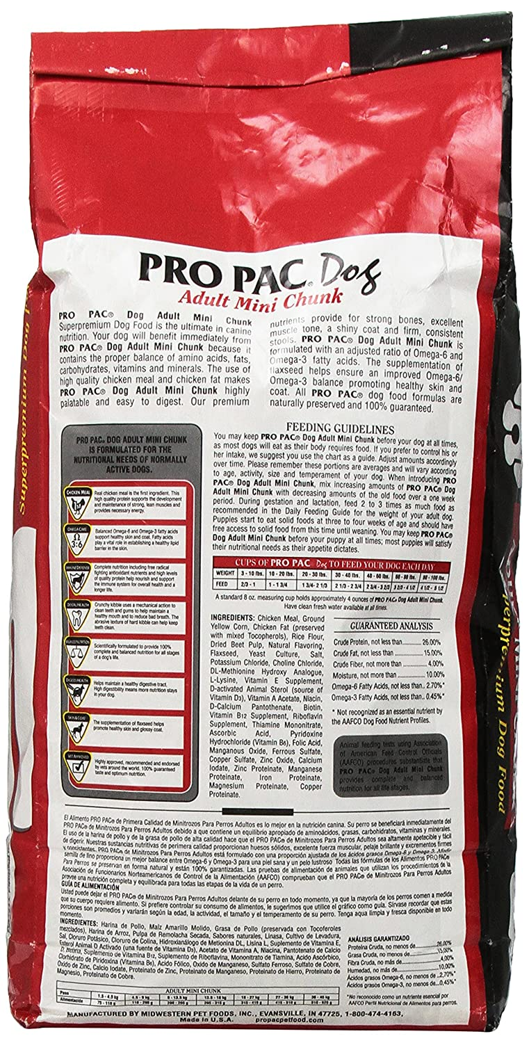 Amazon.com : Wells Pro Pac Adult Mini Chunk Superpremium Dog Food - 6 Lb. Bag : Dry Pet Food : Pet Supplies