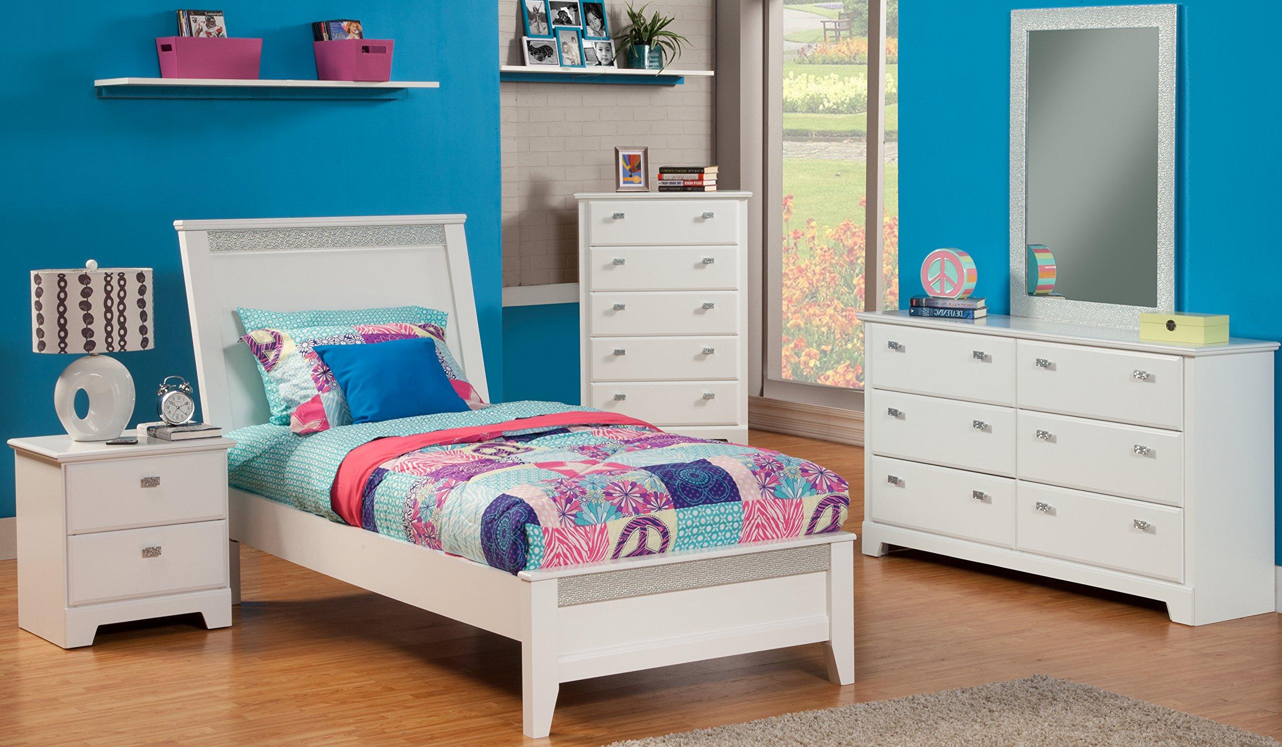 Sandberg Furniture 518K Hailey Bedroom Set, Twin