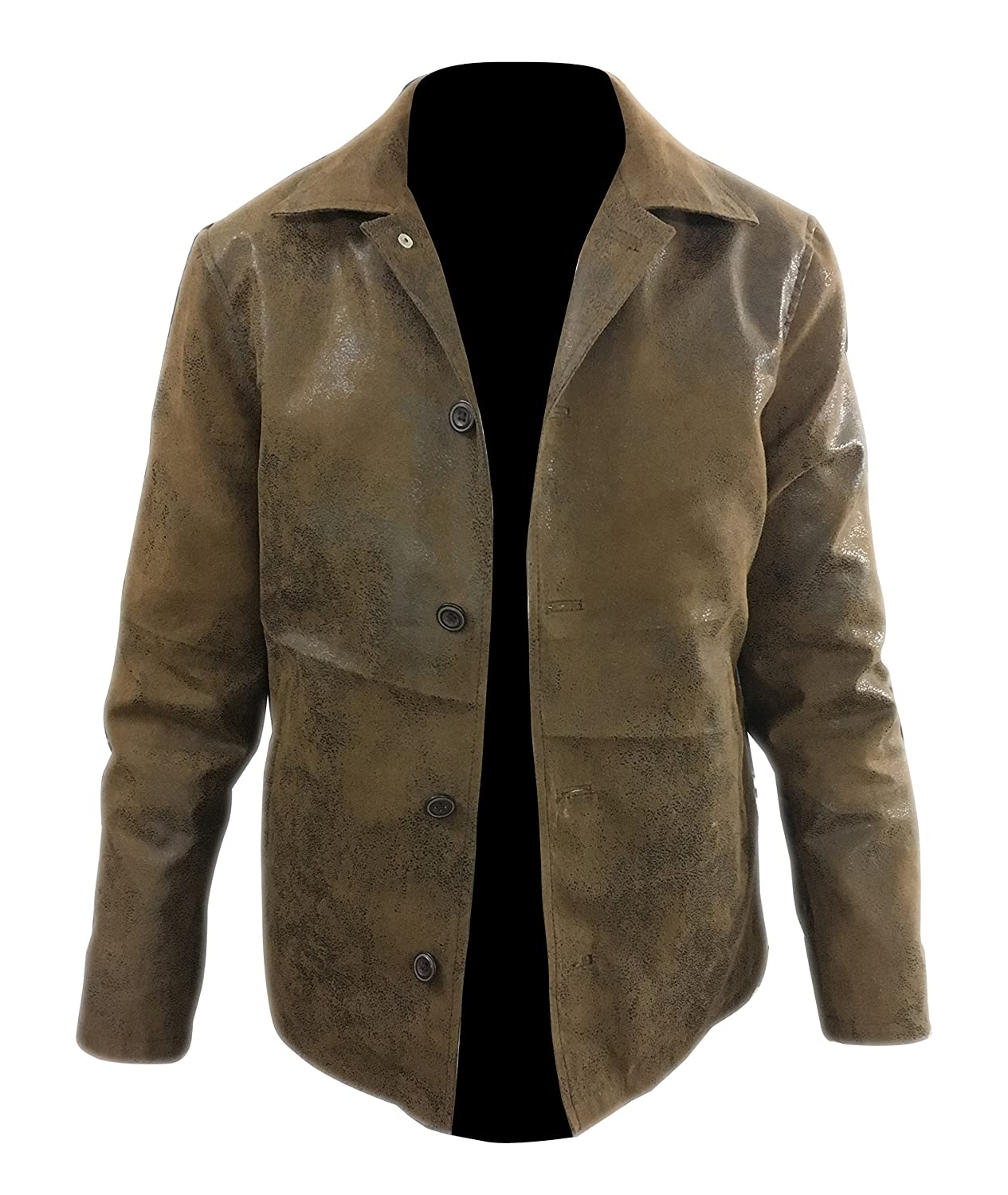 Supernatural Dean Winchester Brown Distressed Faux Leather Jacket